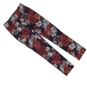 Lisette L Slim Fit Douro Print Ankle Pants, 0